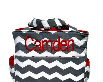 Boy or Girl Diaper Bag Chevron, Extra Large