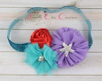 Starfish Headband | Beach Headband | Little Mermaid Inspired Headband | Ariel Birthday Party Headband | Disney Inspired Princess Headband