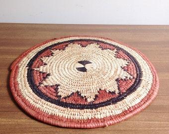 Vintage Woven Fiber Table Mat