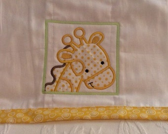 Baby Burp Cloth Embroidered