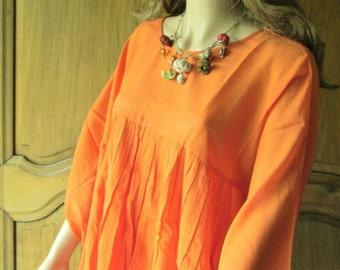 Roshanara scarf orange printed plumetis
