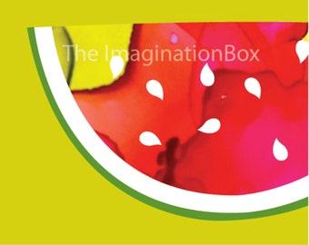 Watermelon Wall Art Print, Watermelon Art Print,  Instant download, digital download, tropical  fruit art, summer art, abstract art print