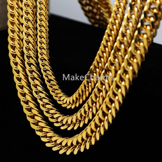 24k gold plated cuban curb chain 9 14mm 24 30 36 long young 24k gold plated cuban curb chain 9 14mm 24 30 36 long young jeez jay z cuban chains hiphop golden link chain heavy mens necklace chunky from makecharms sciox Gallery