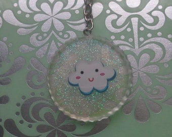 Ready to Ship! Kawaii Cloud Keychain!