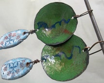 torch enameled beer bottle cap earrings made with love