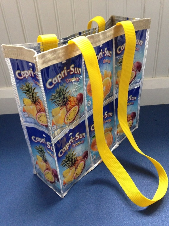 Recycled Shoulder Bag Alternative Shopping Bag Gym or swim