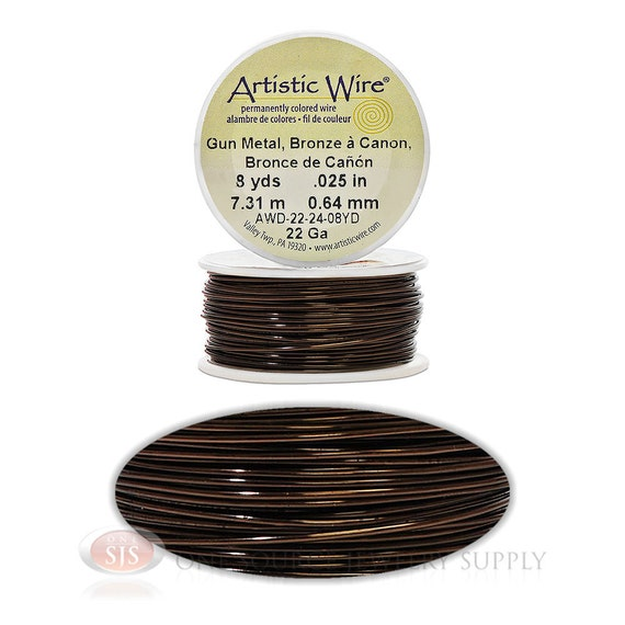 22 gauge gunmetal artistic craft wire 24 feet meters On 22 gauge craft wire