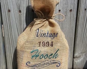"Custom Embroidered Liquor ""Hooch"" Gift Bag"