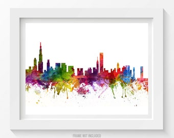 Chicago Illinois Skyline Poster, Chicago Cityscape, Chicago Art, Chicago Decor,  Home Decor, Gift Idea 06