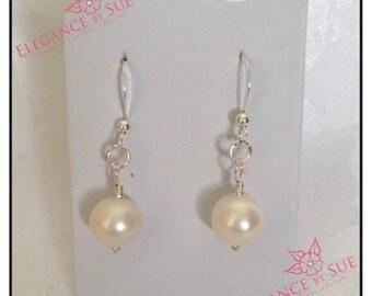Classic White Freshwater Pearl Earrings