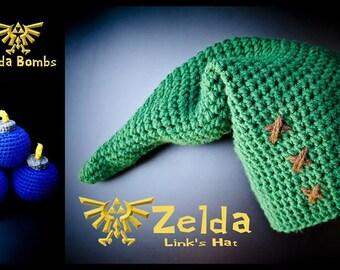 Crochet Zelda Bombs with Link's Hat - Nintendo