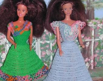 Crochet Fashion Doll Barbie Pattern- #400 VINTAGE LACE SERIES #1