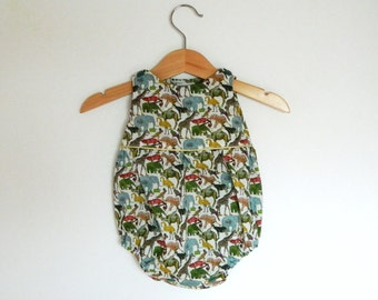 Rompers for baby, cotton, animals pattern