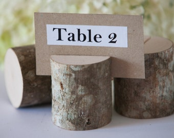 40 Rustic Place Card Holders, table number holder, nut-tree wedding table decor, rustic table number holder, woodland wedding centerpiece