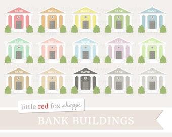 Bank Clipart Building Clip Art Banking Colonial Column Money Greek Architecture Store Icon Cute Digital