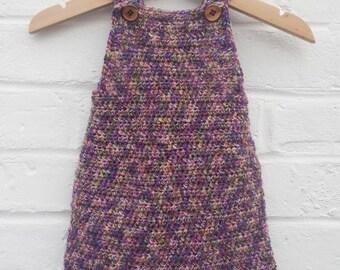 Crochet dungaree dress~ 0-6 months