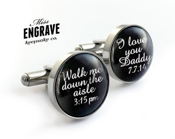 Wedding Father of the Bride Cufflinks - I loved her first