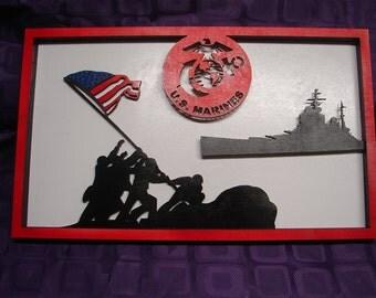 US Marines Layered Art