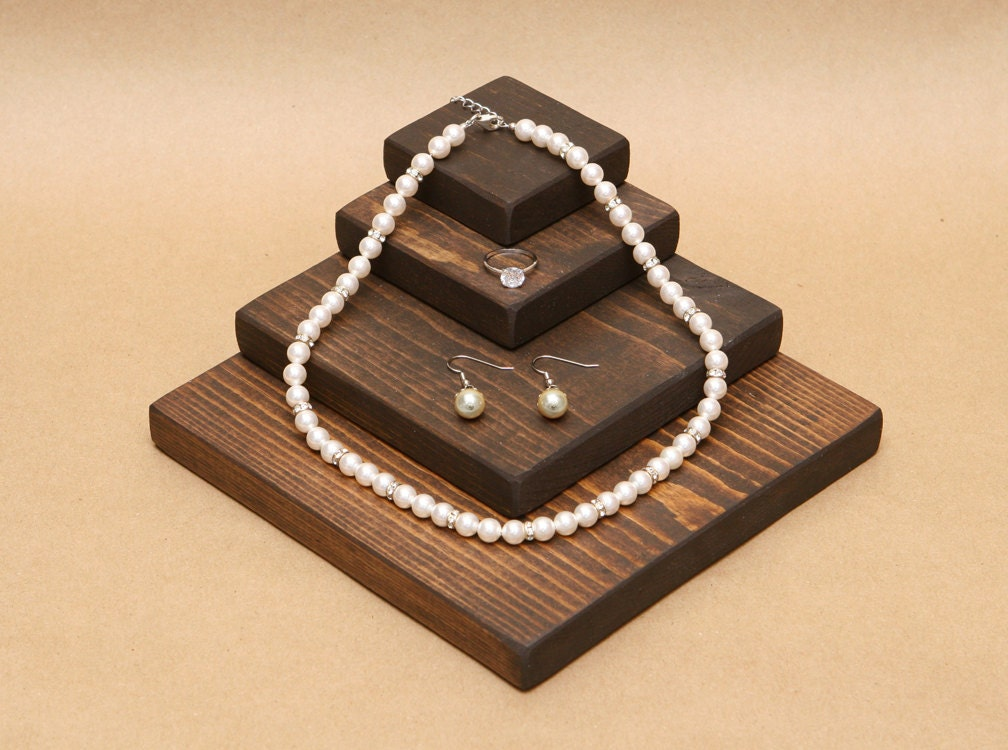Wooden jewelry display riser r003 for Jewelry displays
