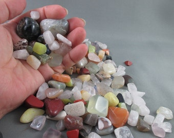 Large Lot 1 lb Tumbled Stones - Rocks and Minerals, Bulk Polished Stones, Earth Energy, Healing Crystals & Stone, Rocks for Kids (T188)