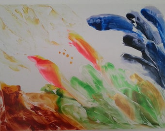 Flow series painting Birth of The Divine A1