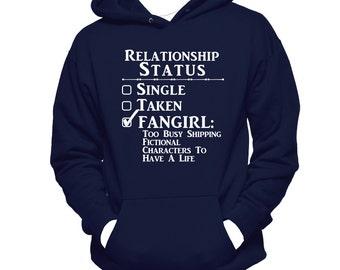 Relationship Status Fangirl, Hanes Hooded Sweatshirt, Fandom,  Fangirl Hoodie