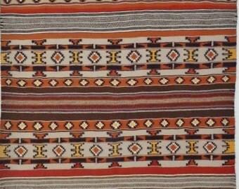 Native American Navajo Hand Woven Rug/Weaving, Ca 1960-70, #844