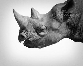 Zoo animal nursery decor Rhino art print Black and White Fine Art Photography Safari theme decor kids room wall art Rhinoceros photography
