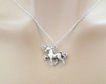 Unicorn, Silver, Necklace, Unicorn, Jewelry, Birthday, Friendship, Best friend, BFF, Sister, Gift, Accessories, Scotland, Jewelry