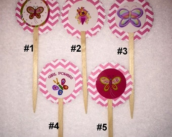 Set of 12 Butterfly Cupcake Toppers (Your Choice of Any 12)