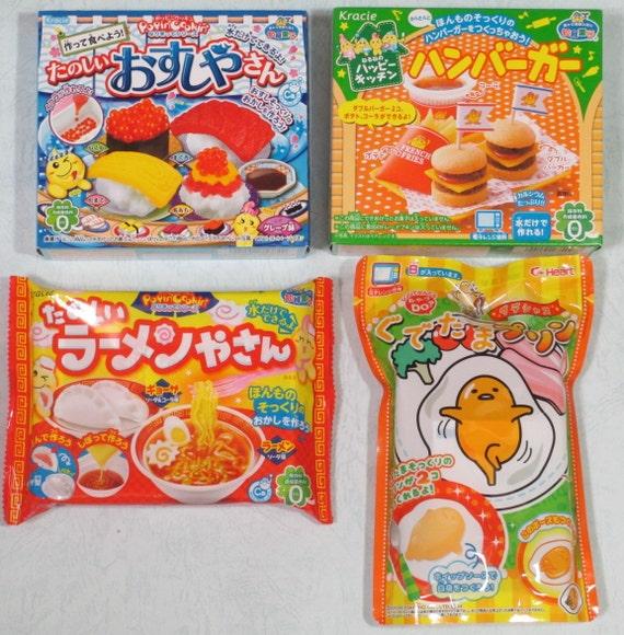 4 pcs japanese candy diy kits kracie popin by nekomonjakawaiidiy. Black Bedroom Furniture Sets. Home Design Ideas