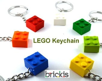 6 LEGO® keychains brick 2x2 keyring for party favors
