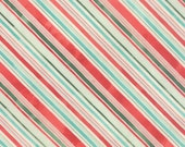 Evergreen Fabric. Fa La La Stripes in Red, Blue and Green, Christmas Fabric from Basic Grey and Moda, Holiday Fabric