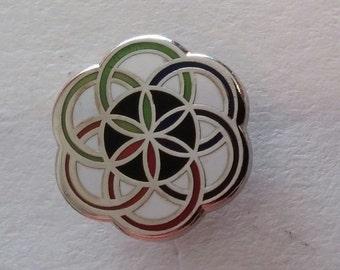 Micro seed sacred geometry pin ***FREE SHIPPING***