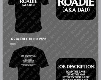 Band Roadie - Dad T-Shirt or Hoodie