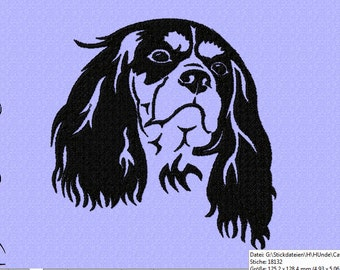 embroidery file for a Cavalier King Charles Spaniel Nr. 2