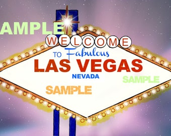 Las Vegas sign template
