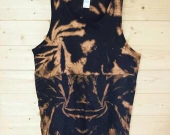 Men's acid dye grunge vest size L.