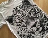 Jaguar Tiger Leopard Animal Fashion Pop T-Shirt S