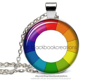 Artist's Color Wheel Handmade Necklace