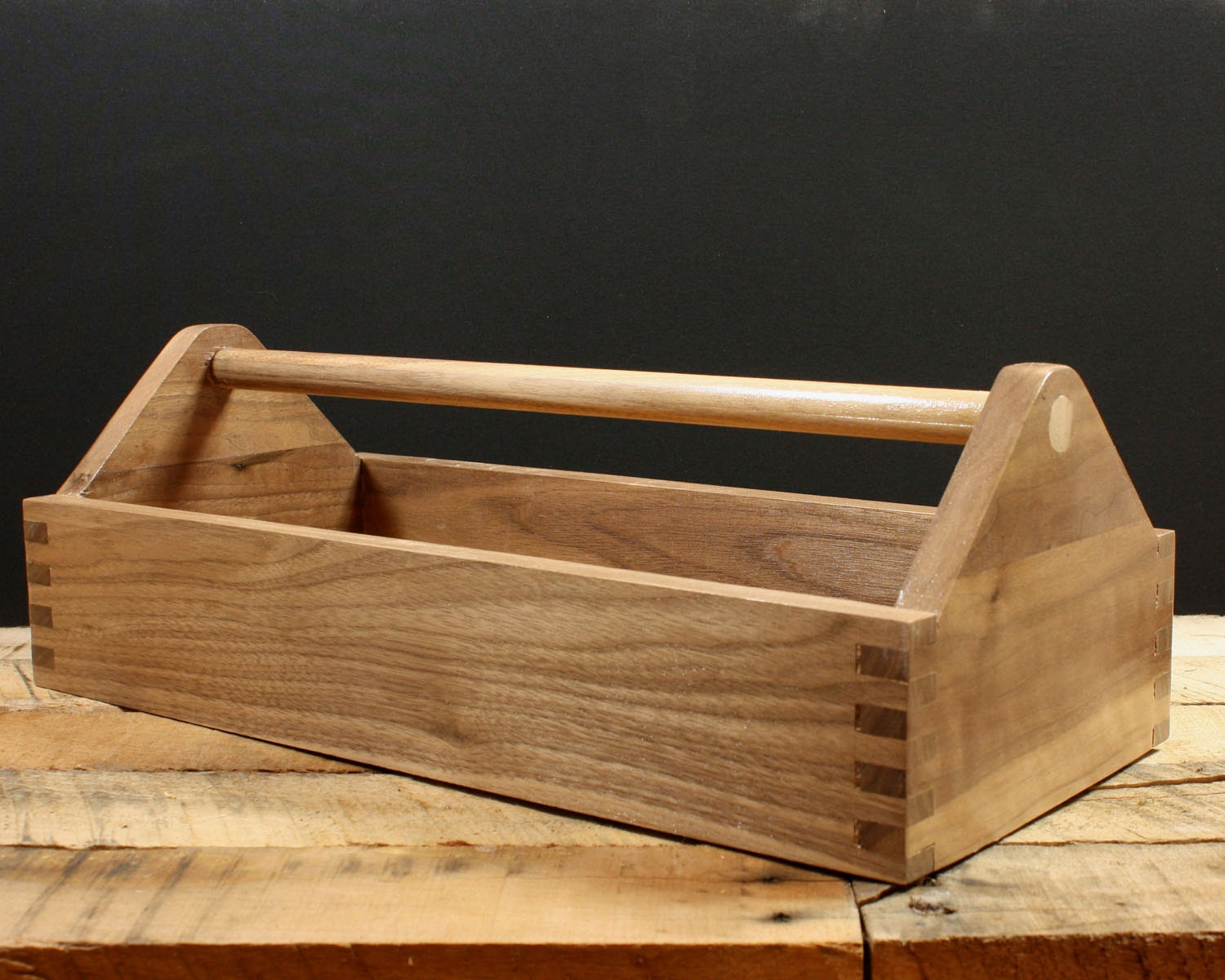 Wood Toolbox Tool Caddy Garden Tote Hardwood Box Storage