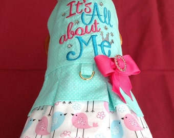 It's All About Me Dog Harness Dress