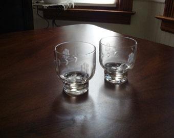 Princess House Heritage Whiskey Bar Glasses!