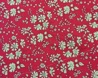 Only 27 Inches remaining Liberty Of London Capel Red Half Yard Cuts and Yardage Available