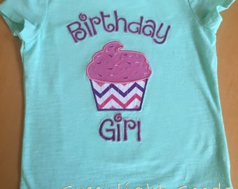 Cupcake Birthday Girl Shirt