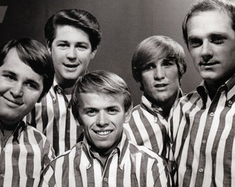 The Beach Boys Poster, Stripped Shirts, Southern California, Rock n' Roll, Beach Boys, Surf Rock