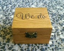 Personalised wooden ring box/gift box