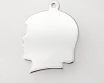 Female Silhouette Pendant (12pcs)