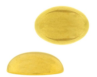 14x10mm Oval Lucite Cabochon - Gold (144pcs)