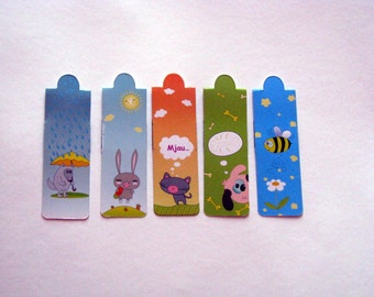 bookmark with magnet, set of 4 bookmark with magnet